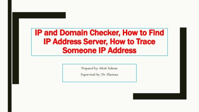 how to find the ip of a domain