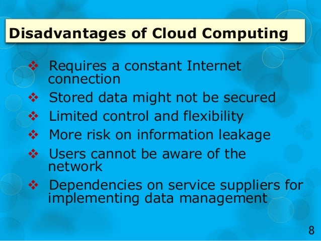 disadvantages of green computing Keywords: green computing, ict, sustainability, cloud computing  indicator  has two major drawbacks: it does not account for the actual use of computing and .