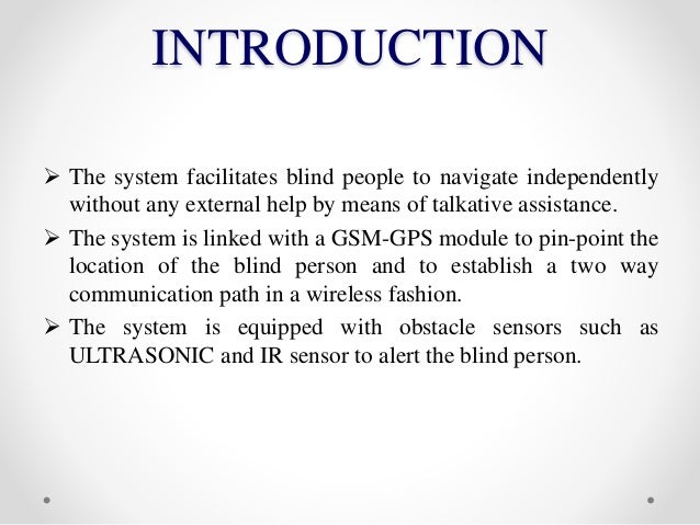 Location Finding For Blind People Using Voice Navigation Stick Seminar