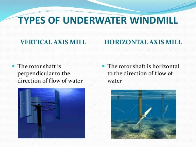 Underwater Windmill