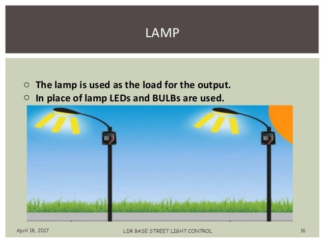 automatic streetlight control using ldr ppt