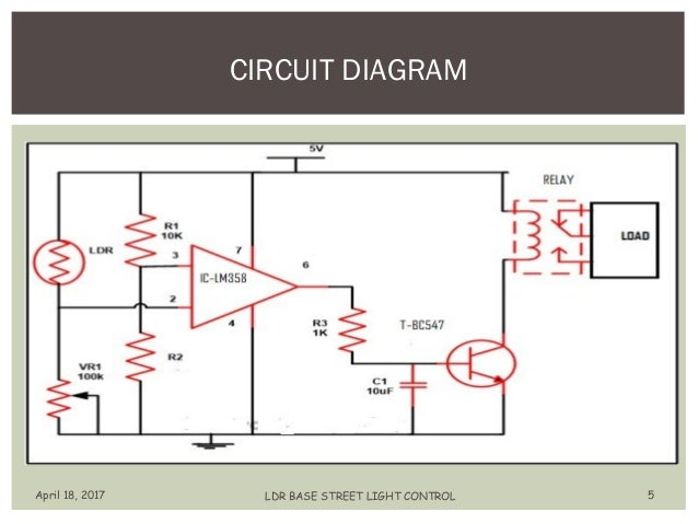 automatic streetlight control using ldr ppt