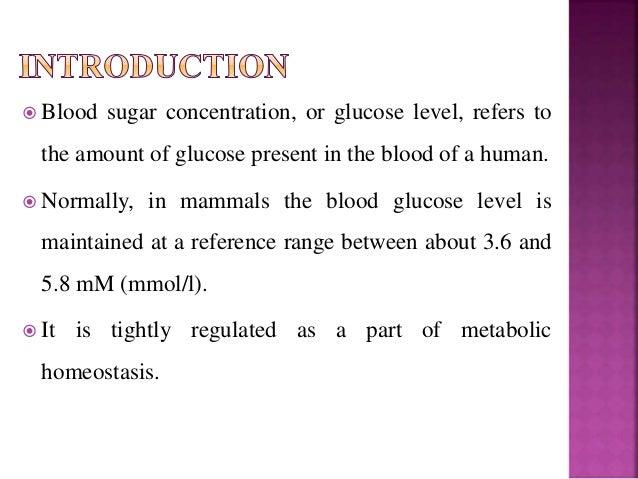 homeostasis blood sugar regulation