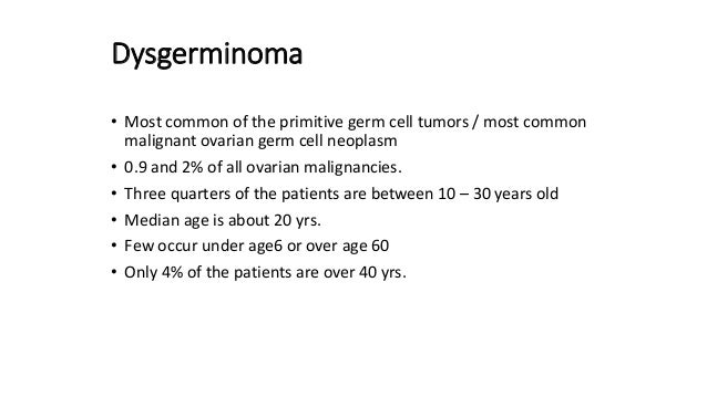 Germ Cell Tumours Of Ovary