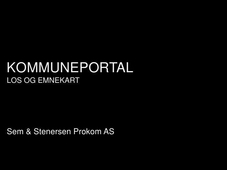 KOMMUNEPORTAL LOS OG EMNEKART     Sem & Stenersen Prokom AS