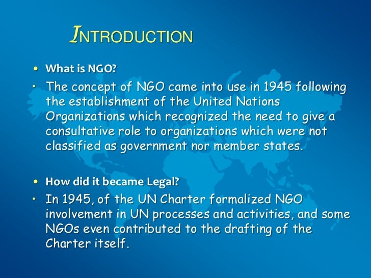 what is ngo? essay In 1990, the number of non-governmental organizations totaled about 9,000 (non-governmental order) today, that number is at 26,000, while other larger numbers are floating around, such as about 44,000 (stein.