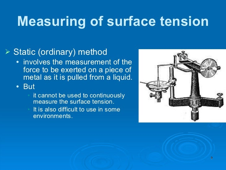 Surface Tension Measure Engneforic