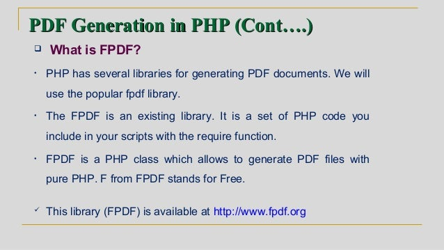 Overview of PHP and MYSQL