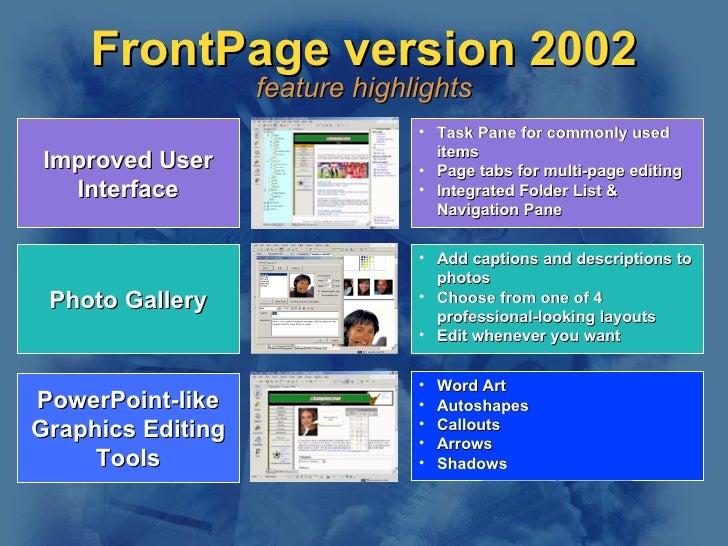 Seminar Presentation for FrontPage on