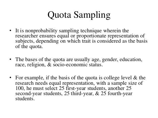Seminar sampling methods