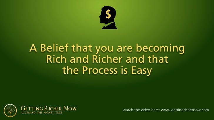 $   A Belief that you are becoming    Rich and Richer and that        the Process is Easy                     watch the vi...
