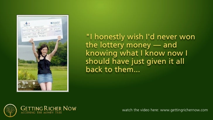 """""""I honestly wish I'd never won the lottery money— and knowing what I know now I should have just given it all back to the..."""