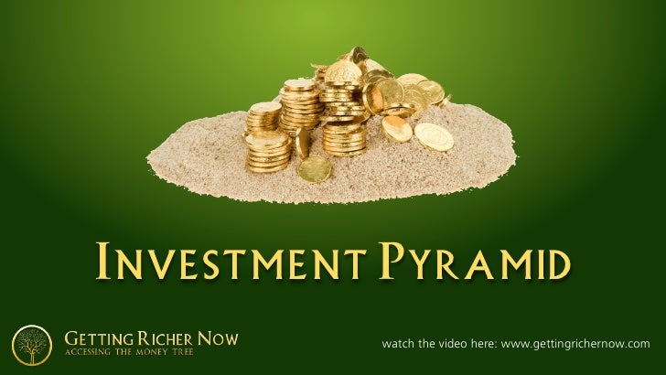 Investment Pyramid           watch the video here: www.gettingrichernow.com