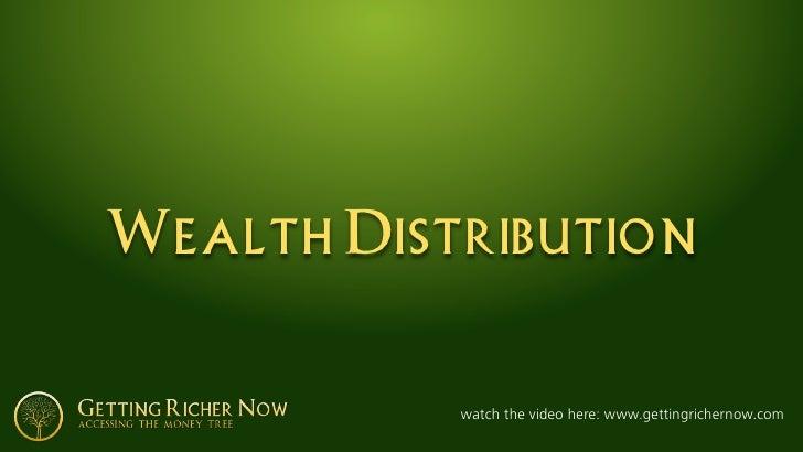 Wealth Distribution              watch the video here: www.gettingrichernow.com