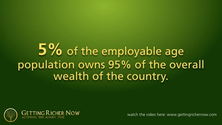 5% of the employable age population owns 95% of the overall       wealth of the country.                      watch the vi...