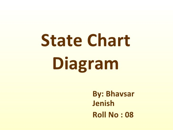 State Chart Diagram By: Bhavsar Jenish Roll No : 08