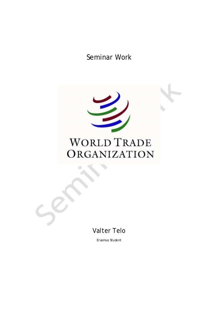 Seminar Work Valter Telo  Erasmus Student