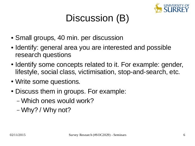 Survey research soc2029 seminar 5 questionnaire design i discussion a 6 maxwellsz