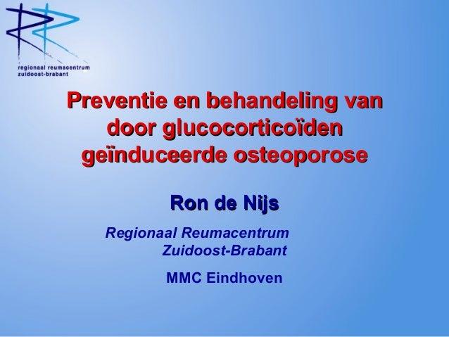Preventie en behandeling vanPreventie en behandeling van door glucocorticoïdendoor glucocorticoïden geïnduceerde osteoporo...
