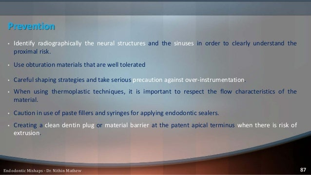 Obturation Related Mishaps Vertical Root Fractures