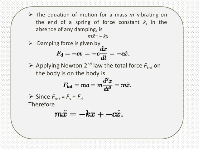 Simple Harmonic Motion Differential Equation
