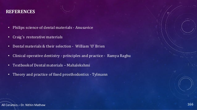 All Ceramics – Dr. Nithin Mathew 167