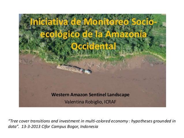 Iniciativa de Monitoreo Socio-              ecológico de la Amazonía                      Occidental                      ...