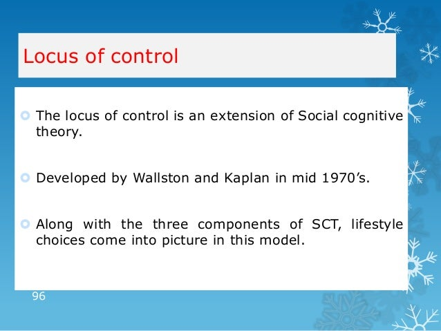 health locus of control health and social care essay Using a sample of adolescents, this study will investigate the relationship between locus of control and behaviours known for school dropout, suspension or expulsion, and low performance ('academic failure'.