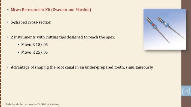 Endodontic Retreatment – Dr. Nithin Mathew Heat Transfer Devices • Heat Carrier Tips • System B • Endotec • EndoTwinn • To...