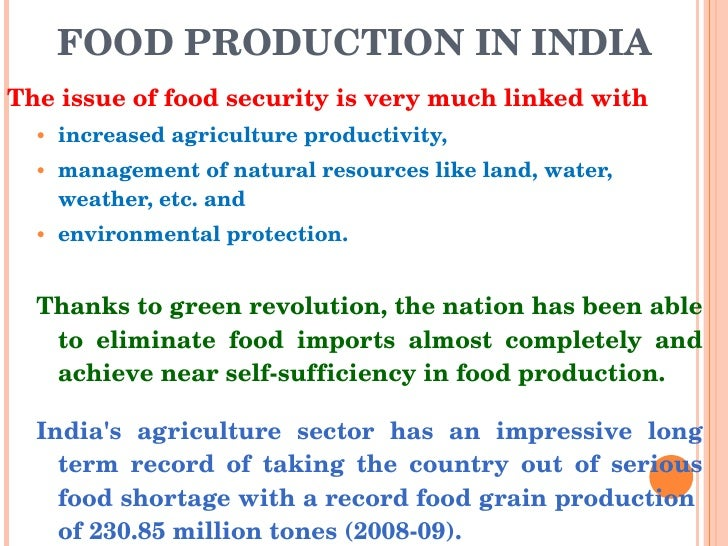 food security and pds system in  food production in