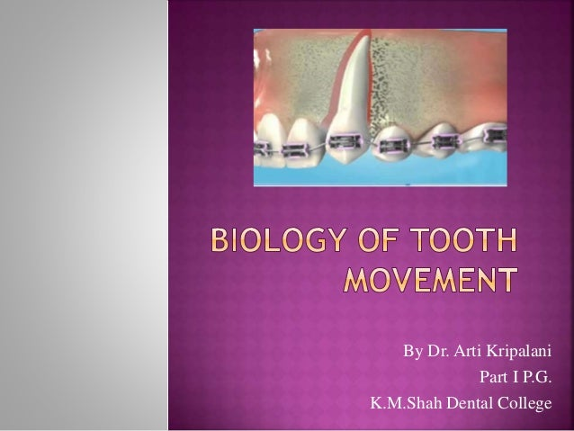 By Dr. Arti Kripalani Part I P.G. K.M.Shah Dental College