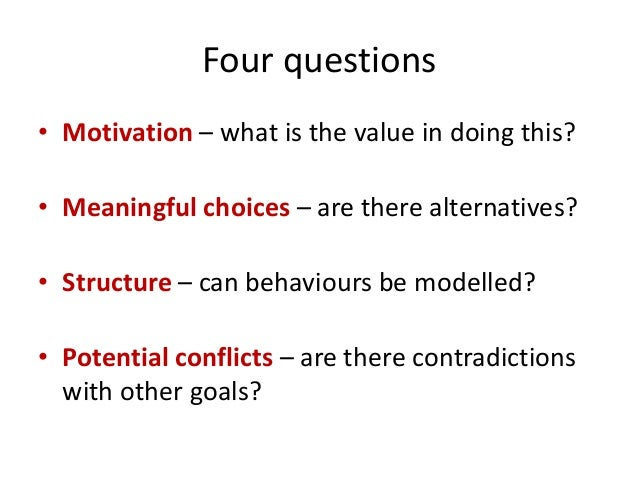 Contexts that Motivate Learning