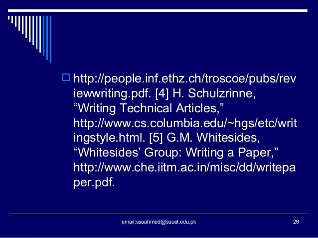 """whitesides group writing a paper Your objective is not to 'collect data'"""" george whitesides, """"whitesides' group:  writing a paper"""", essay in advanced materials, 2004, 16, 1375."""