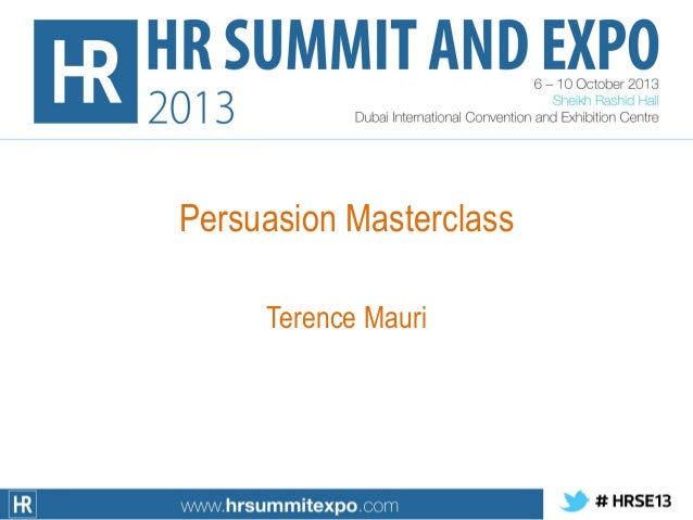 Persuasion Masterclass Terence Mauri
