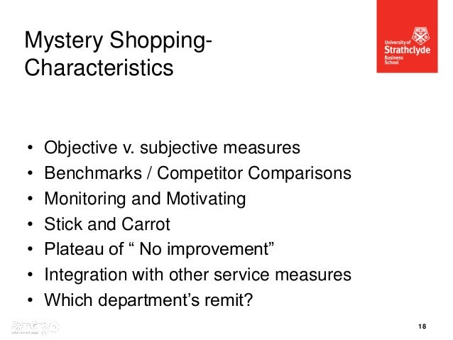 Seminar 4 mystery shopping what does it measure 17 18 malvernweather Gallery