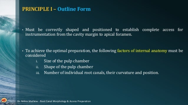 Size of the pulp chamber Young• patients – more extensive than older patients Quite• apparent while preparing anterior too...