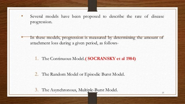 • Several models have been proposed to describe the rate of disease progression. • In these models, progression is measure...