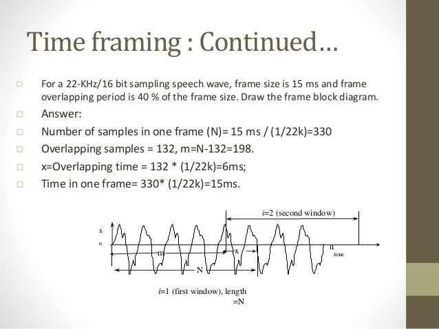 Speech Signal Processing