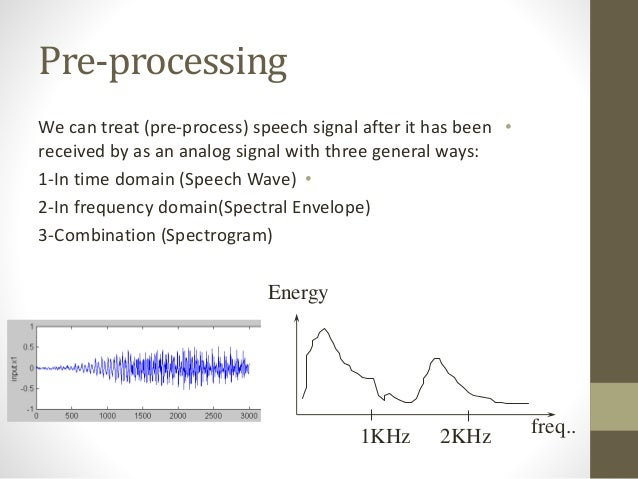 speech signal processing Signal processing tasks •audio/speech encoding/decoding - codecs ( dft –spectral analysis, filtering & modifications) •audio effects ( fir/iir - digital filtering & spectral modifications.