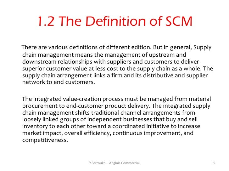 Basics Of Supply Chain Managment