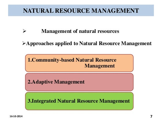 natural resource management This degree provides curriculum that combines aquatic and terrestrial resource management and characterization learn more.