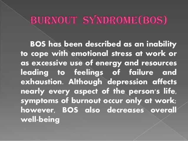 BURNOUT SYNDROME Slide 3