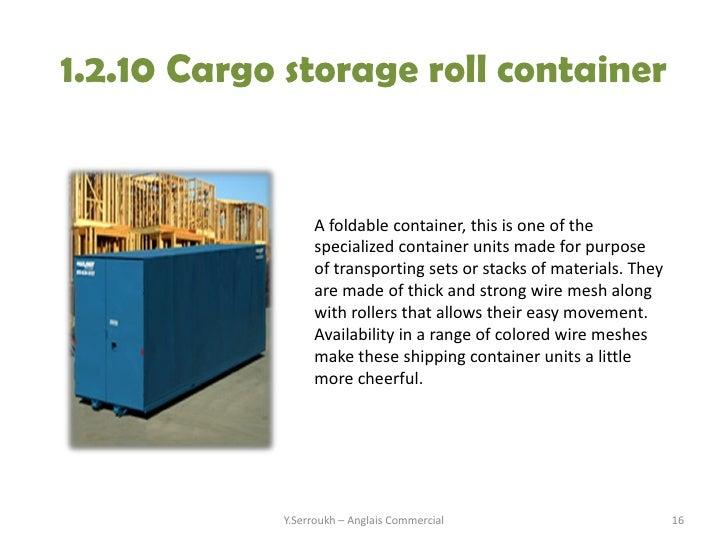 Wonderful Y.Serroukh U2013 Anglais Commercial 15; 16. 1.2.10 Cargo Storage ...