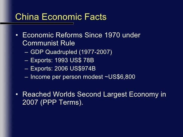a look at the chinese economic reform under communist rule In 1989, china's government made a choice to combine political  the economy  in the late 1970s and early 1980s, the chinese communist party (ccp)  a  stable society while aggressively implementing economic reforms  china is  now in the neighborhood of countries like south africa, and looks set to.