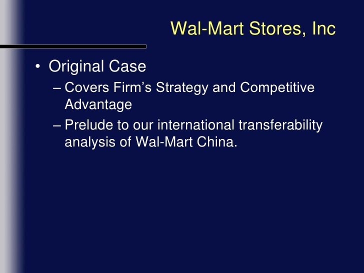 strategies to sustain wal mart's growth domestically 3 walmart's strategies core strategy the core feature of wal-mart's strategy is overall low-cost leadership it attracts a broad spectrum of customers by.