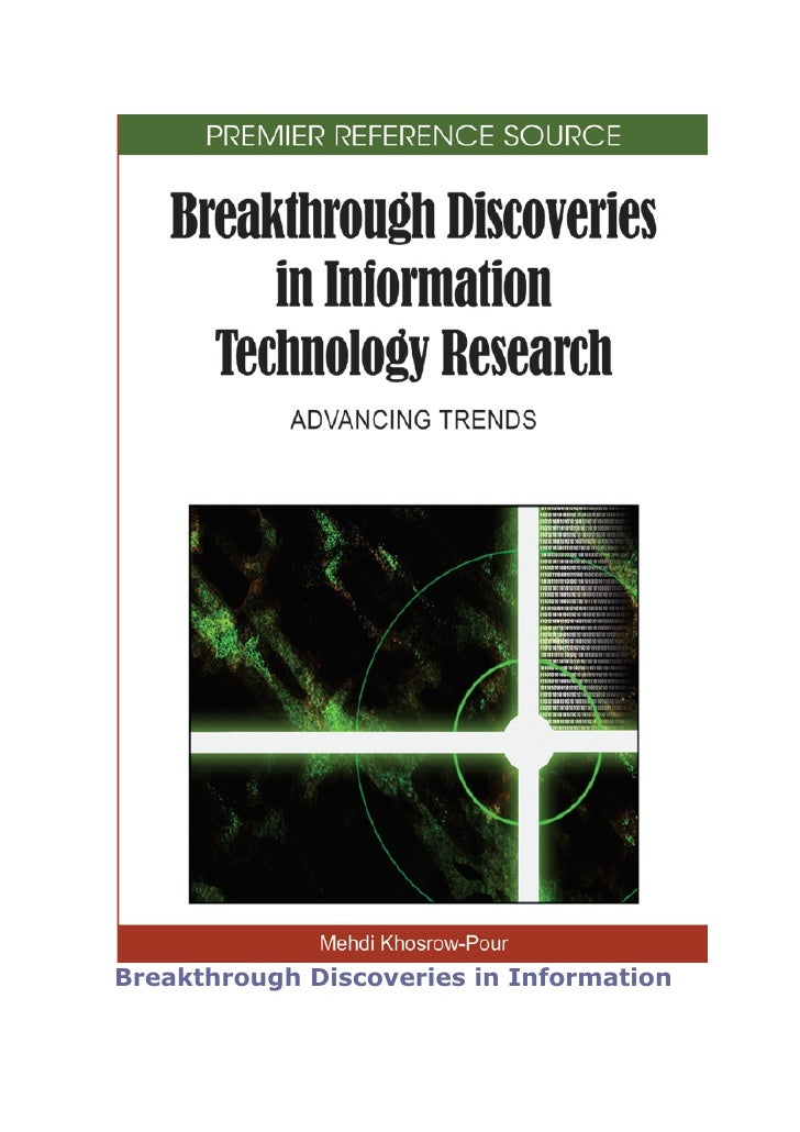 Breakthrough Discoveries in Information