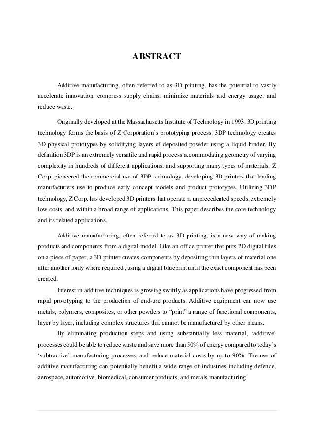 3d Printing Report Pdf