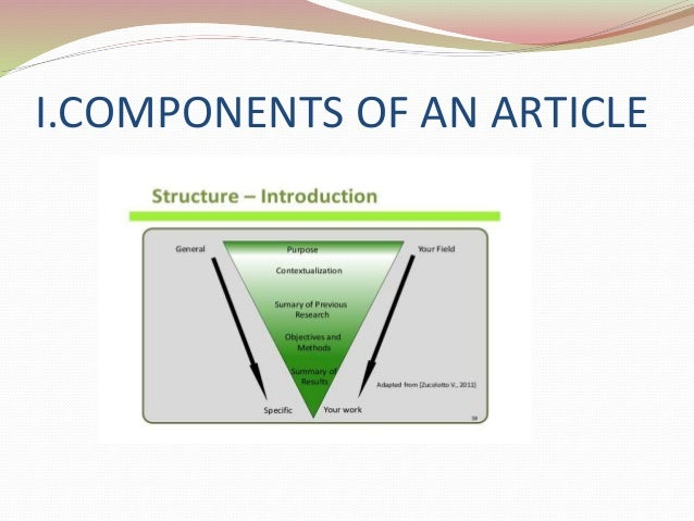 key components of a research article How to write a conclusion to a science research paper  sources, however,  consistently require the inclusion of several key components.