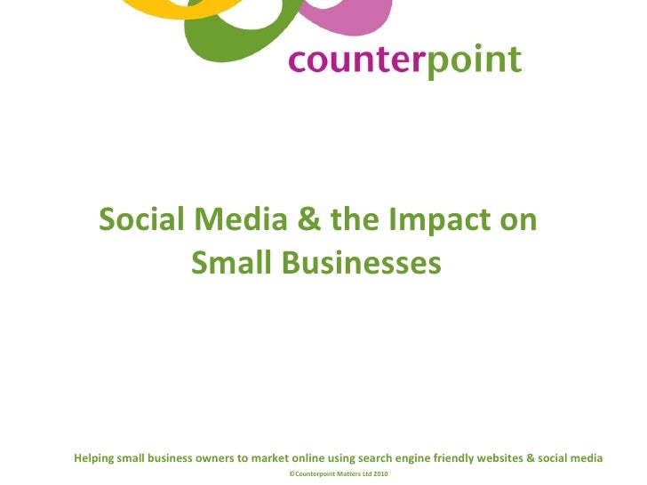 Social Media & the Impact on Small Businesses