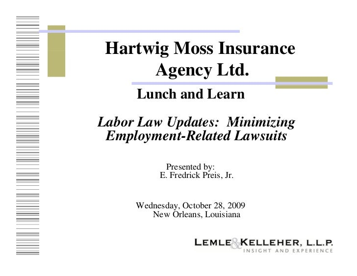 Employment Law Lunch and Learn - Fisher & Phillips